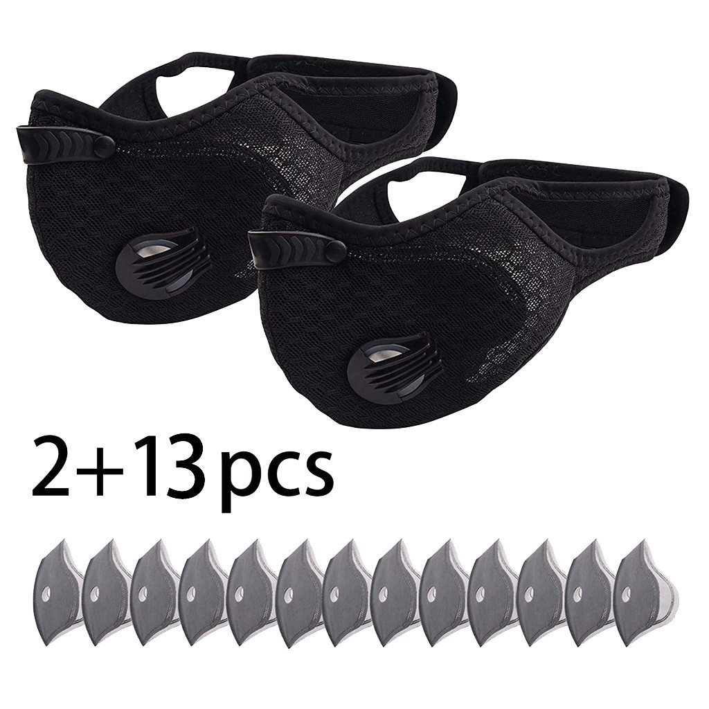 Sport Face Mask With 13PC Filter Activated Carbon PM2.5 Anti-Pollution Running Training Facemask Road Bike Cycling Face Mask