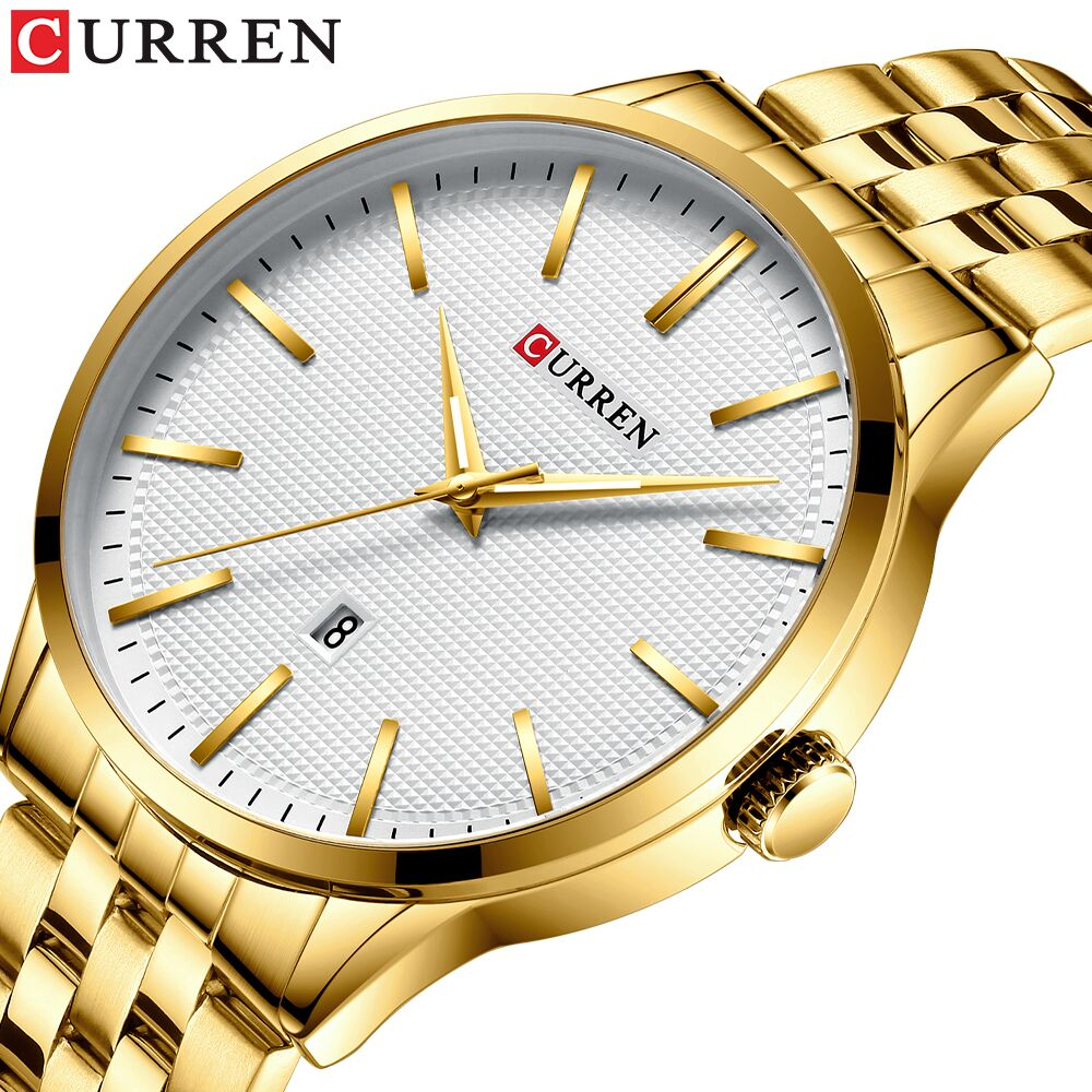 Men's Watch Top Brand CURREN Luxury Quartz Wrist Watch Male Clock Business Watches Relogio Masculino Stainless Steel Band