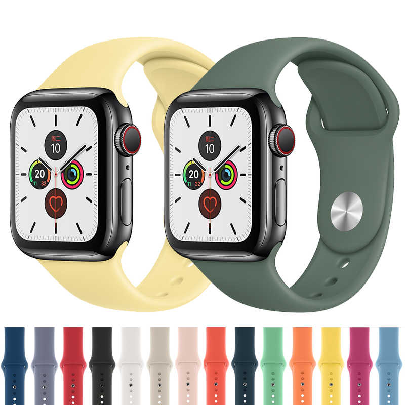 Strap for Apple watch band 44mm 40mm 42mm 40mm correa iwatch band 5 4 3 2 Sport Silicone belt Bracelet Apple watch 4 Accessories