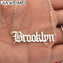 Custom English Name Plate Necklace Silver 925 Solid For Women Girl Bridemaid Jewelry Personalized Gift(China)