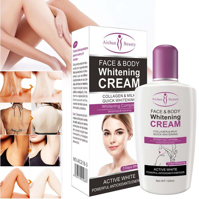 Brand New Beauty Face Body Whitening Cream Fast For Dark Skin Bleaching Knee Elbow Private Armpit Skin Whitening Cream LVS88