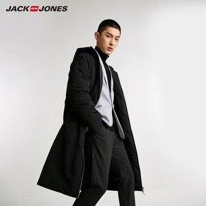 Image 2 - JackJones الرجال عكسها مقنعين معطف بركة (سترة من الفراء بقبعة للقطب الشمالي) طويلة وسادة مبطنة الملابس الرجالية 218409505