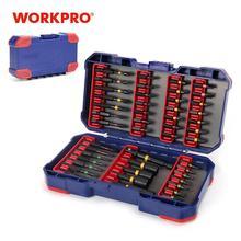 Brocas de destornillador WORKPRO para destornillador eléctrico 47 en 1 ranurado/Phillips/Torx/Pozidriv Bits Juego de llaves para tuercas de impacto puntas duras