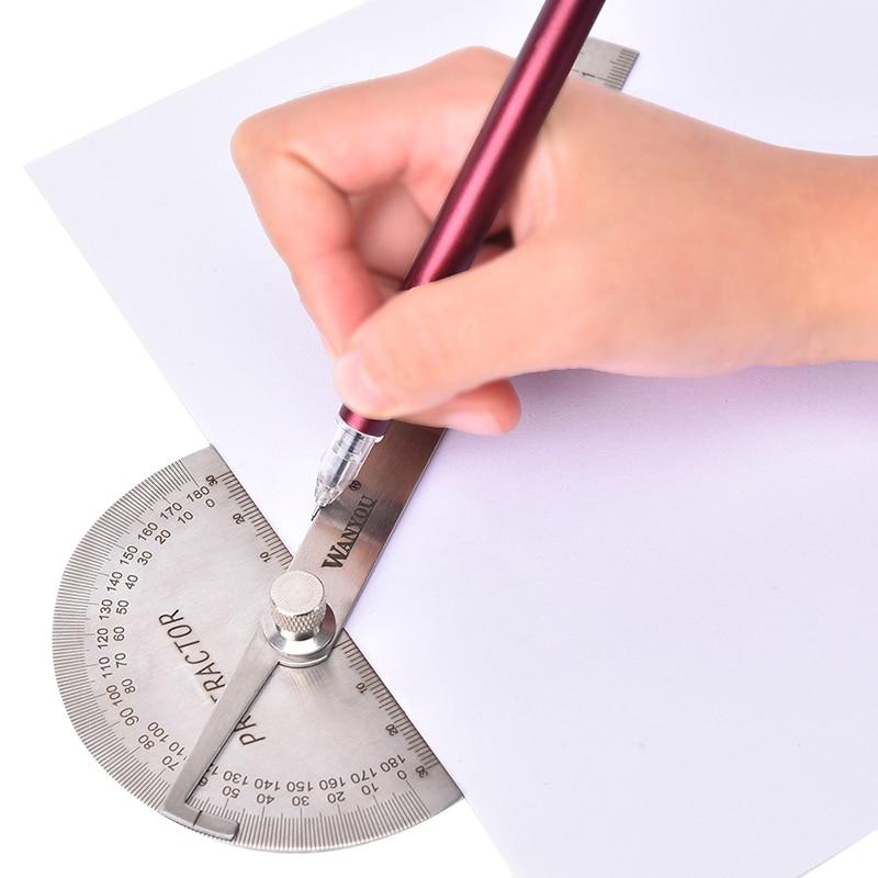 Règle de mesure rotative dacier inoxydable de trouveur dangle de rapporteur de 180 degrés pour des outils de travail du bois pour mesurer des Angles