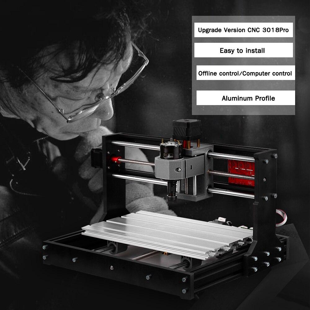 CNC 3018 PRO graveur Laser bois CNC routeur Machine GRBL ER11 passe-temps bricolage gravure Machine pour bois PCB PVC Mini CNC 3018 graveur - 3