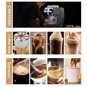 Image 3 - 15bar اسبرسو قهوة تجارية آلة 220V مطعم فندق مقهى باستخدام القهوة صانع LED عرض ماكينة إسبريسو