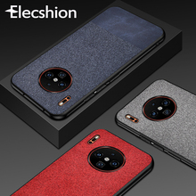 Leather Texture Mobile Phone Case For Huawei P30 Lite Matte Pro Protection Anti Print Black Cloth Capa