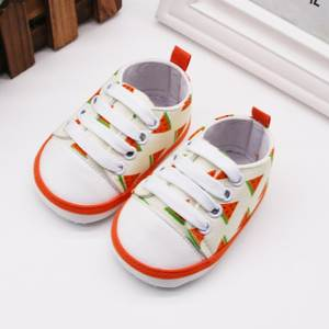 Toddler Shoes First-Walkers Canvas Anti-Slip Soft-Soled Fruit-Print