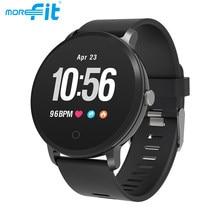 MoreFit V11 akıllı saat erkekler kadınlar için tam dokunmatik su geçirmez nabız monitörü spor izci Smartwatch VS Y68 Smartwatches