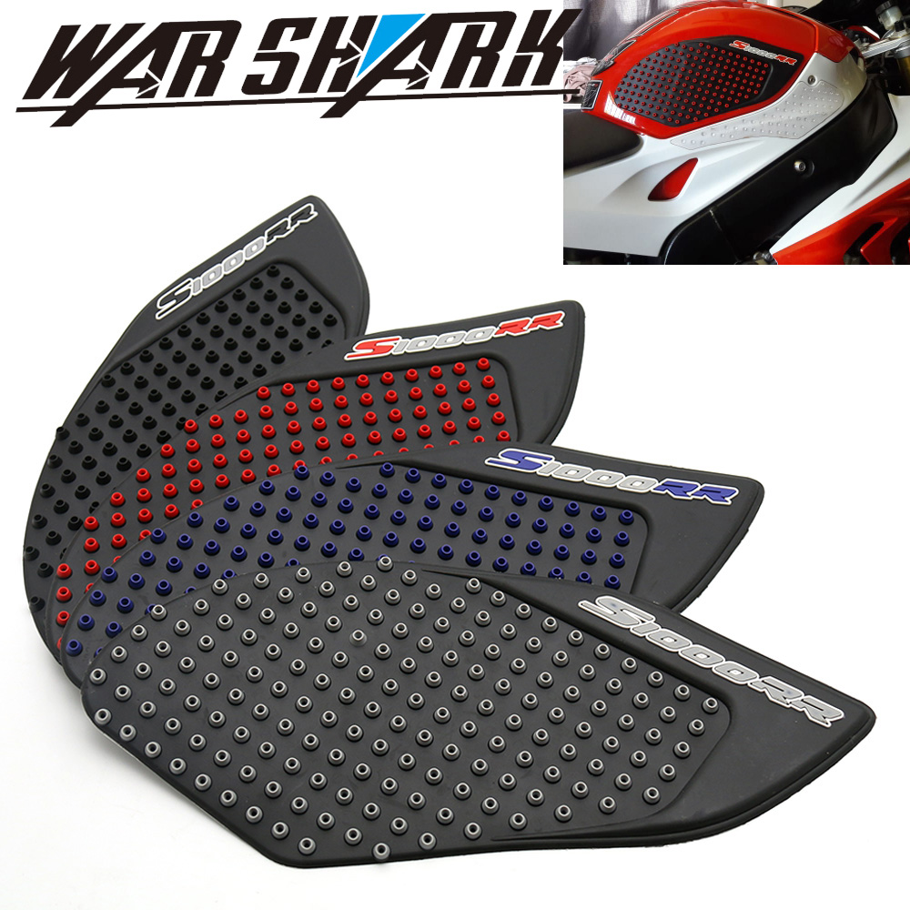 Motorcycle Gas Protector Sticker 3D Rubber Fuel Tank Pad Tankpad Protector Decal for BMW S1000RR S1000 S 1000 RR BMWS1000 BMWS1000RR S-1000RR S-1000 Red