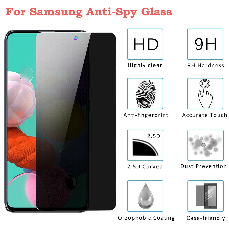 Скрытая защитная пленка на экран для Samsung Galaxy A10 A20 A30 для A40 A40S A50 A60 A70 A80 A90 M20 M30 анти-шпион закаленное стекло пленка