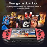 INT BOX PRO schermo da 4.3 pollici 16 milioni di colori 16: 9 HD, Console di gioco portatile nostalgico classico a doppia vibrazione costruito In 10000 giochi