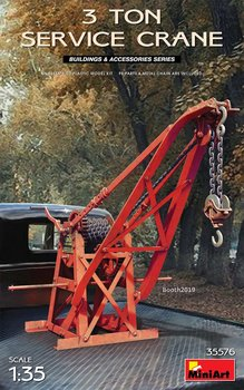 Miniart 35576 1/35 Scale 3 Ton Service Crane Display Collectible Toy Plastic Assembly Model Kit недорого