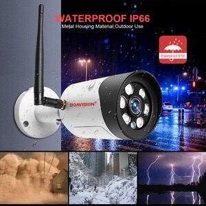 Image 5 - HD 1080P 5 Мп Wifi IP камера наружная беспроводная Onvif полноцветная камера видеонаблюдения с ночным видением цилиндрическая камера безопасности со слотом для TF карты APP CamHi