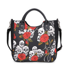 New Ladies Large-capacity Casual Handbag Fashion Personality Trend Printing Canvas Bag Messenger