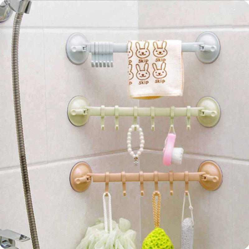 Ganchos dupla ventosa fixado na parede toalheiro pendurado gancho prateleiras titular tipo de bloqueio otário cozinha para acessórios do banheiro