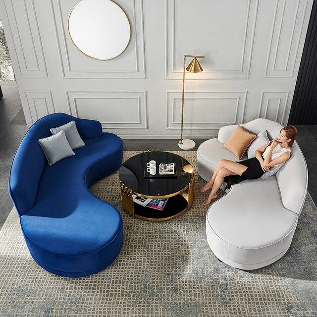 Velvet Living Room Sofa  2