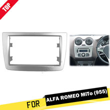 Double Din Fascia For ALFA ROMEO MITO Radio Refitting Install Frame DVD Stereo Panel Dash Mount Trim Kit Surroud Plate Bezel 2di