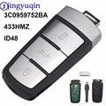 Умная флип-карта без ключа с 3 кнопками, 433 МГц, с чипом ID48 3C0959752BA для VW Passat B6 3C B7 Magotan CC