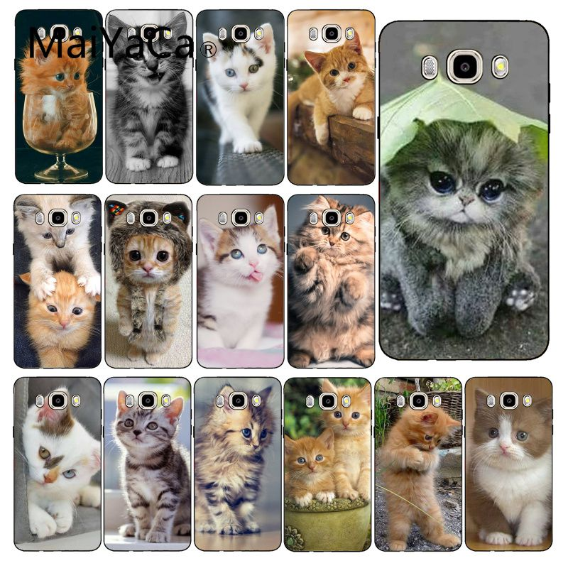 Maiyaca Funny Kitten Cat Phone Case Cover For Samsung Galaxy J7 J6 J8 J4 J4Plus J7 DUO J7NEO J2 J7 Prime image