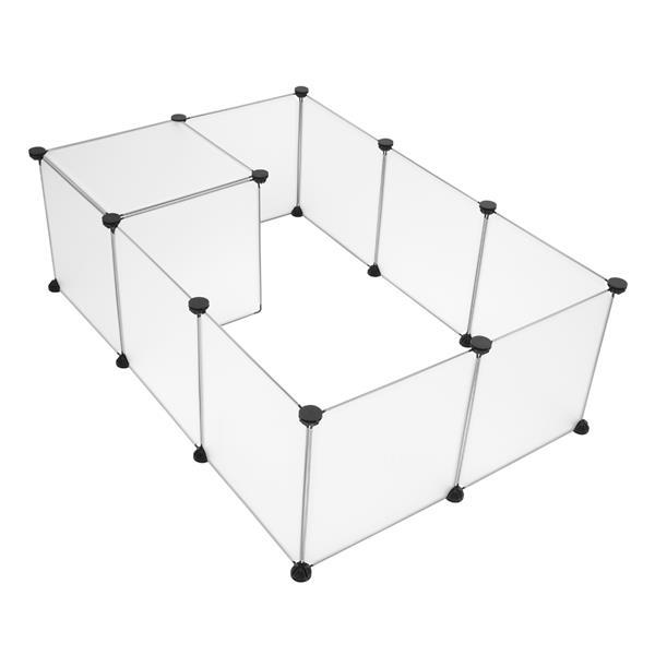 Small Animals Cage Indoor Portable Large Plastic Yard Fence for Small Animals,Rabbits,Puppy Kennel,Crate Tent Pet Playpen 2