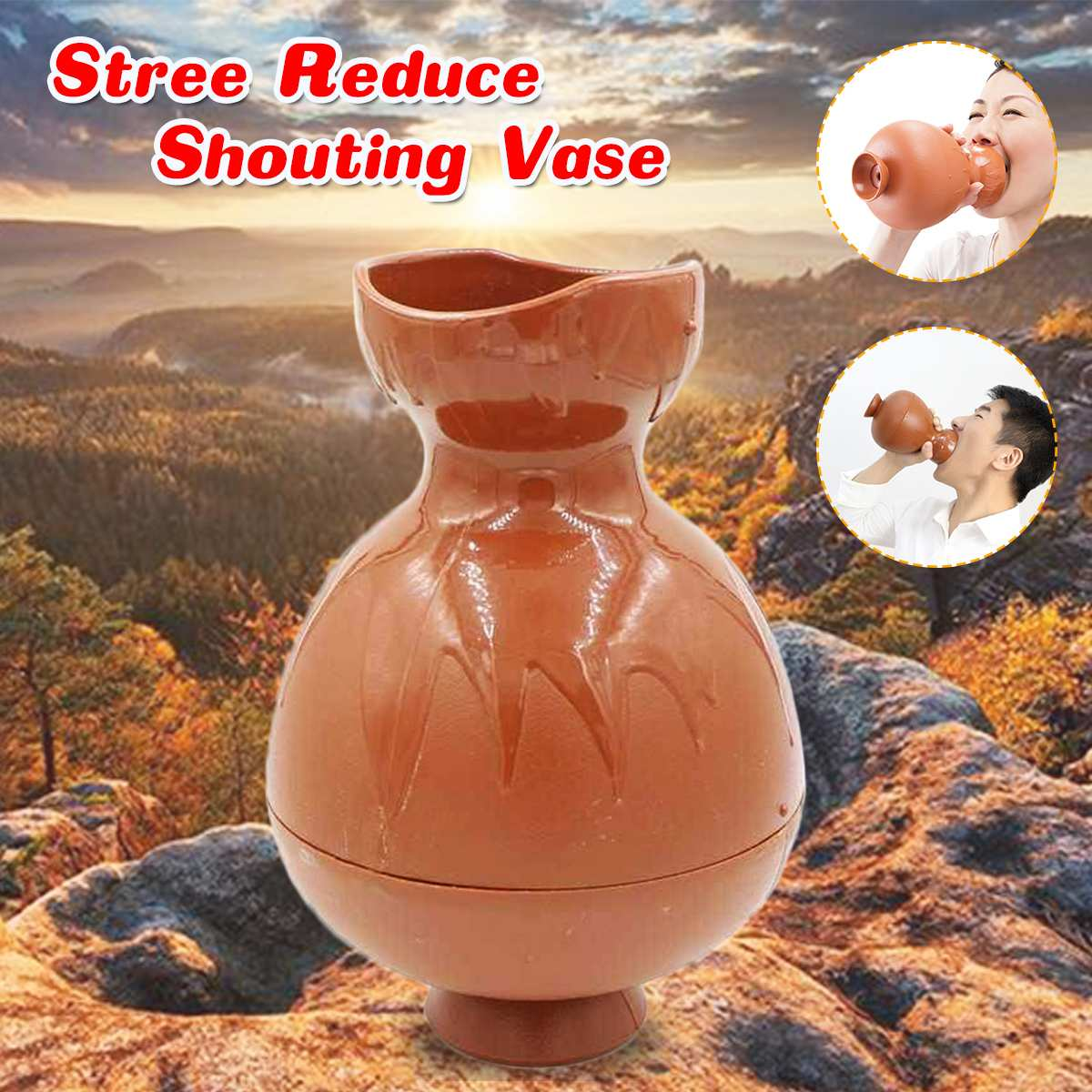 Adult Relief Stress Vent Shouting Vase Anti Stress Toy Novelty Funny Idea Gift Screaming Kettle