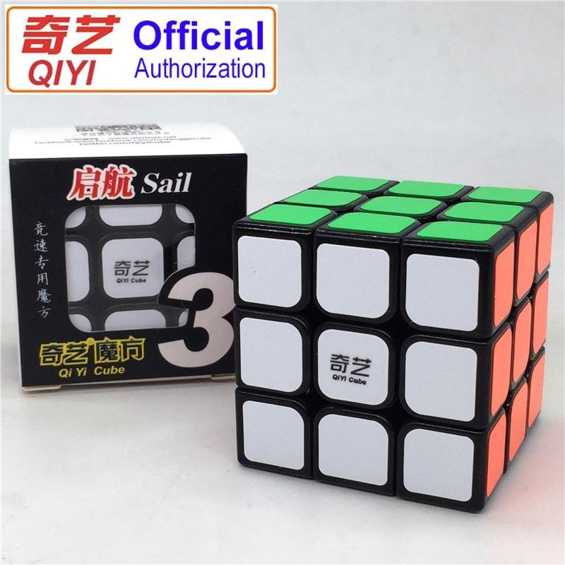 QIYI Magic Cube 3x3x3 5.6CM Carbon Fiber Sticker Professional Speed Puzzle Magic Cubes Rubic