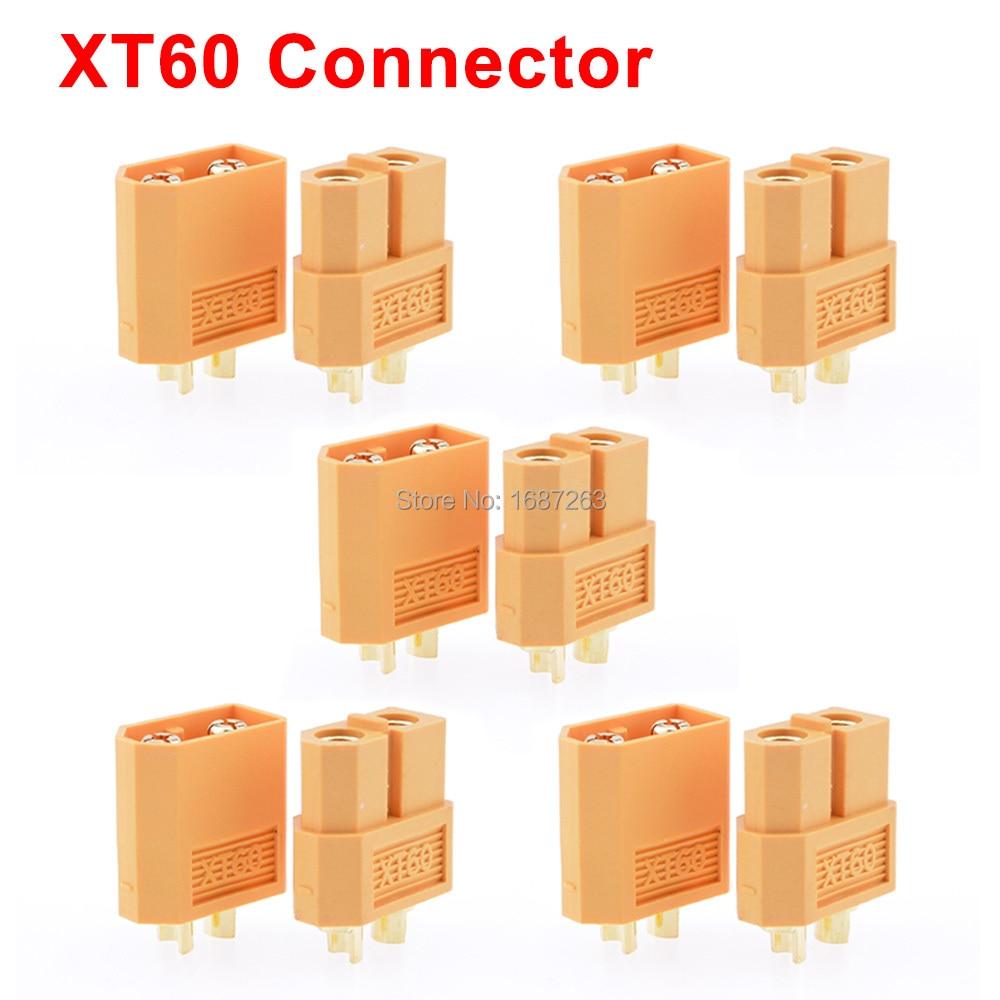 """10 пар XT30 XT30U XT60 XT60H XT90 EC2 EC3 EC5 T разъем батареи набор мужской женский Позолоченный разъем типа """"банан"""" для RC частей - Цвет: 5pairs XT60"""