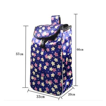 Torby na zakupy na wózek na zakupy torby na zakupy torby kobieta kosz na zakupy torby na zakupy na artykuły spożywcze torby na kółkach torebka do przechowywania tanie i dobre opinie CN (pochodzenie) Torby do przechowywania Ekologiczne Folding Oxford Trójwymiarowe Prostokątne Na rozmaitości