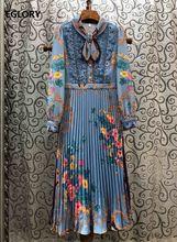 Элегантное платье с бантом 2020 весеннее Стильное женское красивым