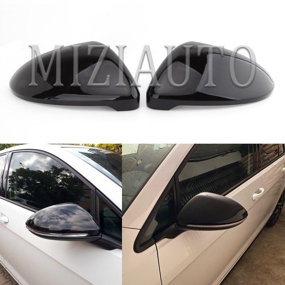 Боковое зеркало заднего вида, колпачки для VW Golf 7 MK7 7,5 для GTI для Touran 2014-2017, чехол для зеркала, чехол, яркий черный
