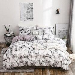 Estampado mármol 6 colores juego de cama fundas de edredón 2/3 Uds cubre tamaño King Queen ropa de cama de alta calidad edredón ropa de cama