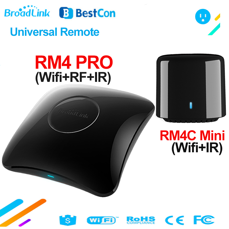 2020 Broadlink RM4 PRO RM4C Mini Smart Home Automation WiFi IR RF Smart House Switch Universal Intelligent Remote Controller