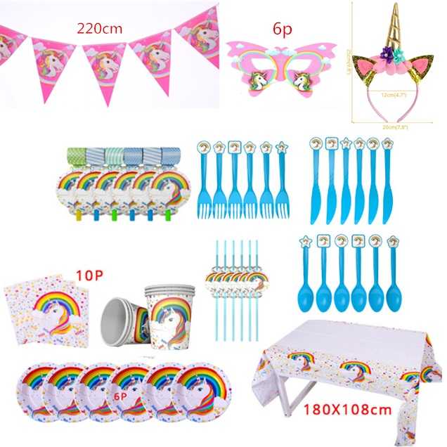 Image 5 - Unicorn Party Balloons Happy Birthday Party Air Ball Package Baby Shower 1st Birthday Decoration Girl Boy Letter Balloon-in Party DIY Decorations from Home & Garden