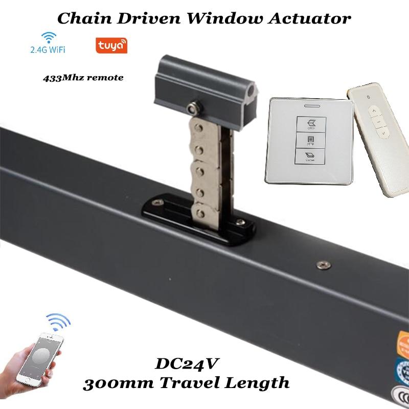 Tuya Wifi Window Opener Skylight Awning Actuator Motorized Chain Window Opener Closer Auto Open Remote Control Home Automation