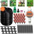 Автоматическая система капельного орошения для сада, устройство «сделай сам» 25 м, таймер распыления, шланг 4/7 мм с регулируемыми капельница...