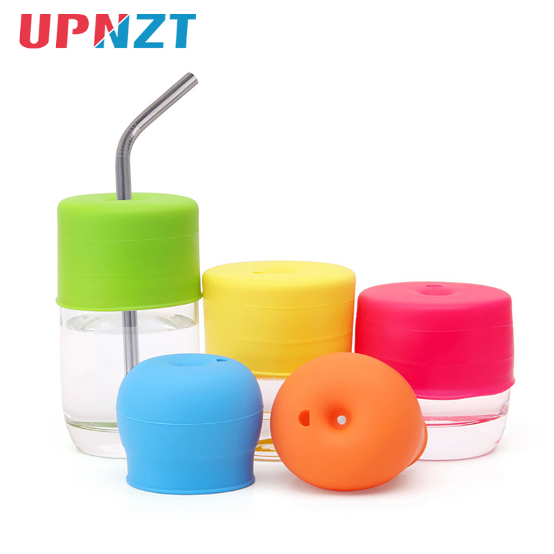 Universal Baby Silicone Spill-Proof Sippy Training Cup Straw Lids Baby Learn To Drink Glassware Lid Cup Cover Kitchen Drink Tool