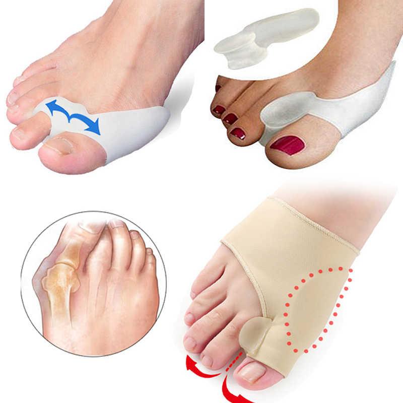 Hallux valgus bunion corrector toe separador pedicure ferramentas almofada almofada osso polegar straightener anti fricção sapatos adesivos