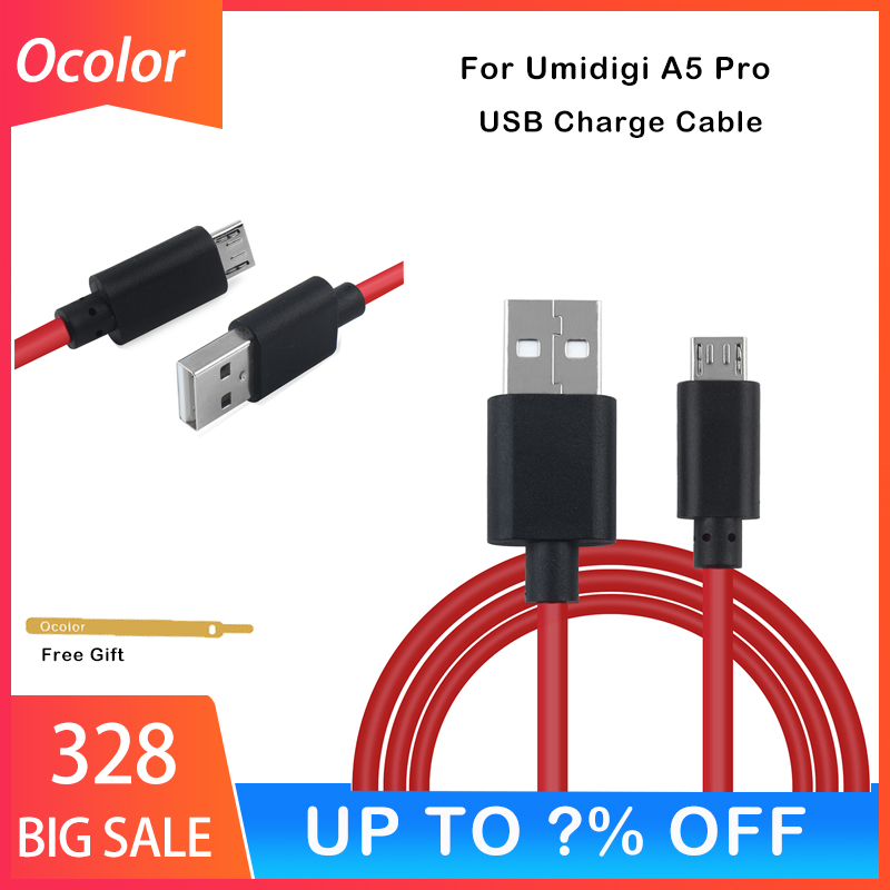 Ocolor For Umidigi A5 Pro USB Micro Cable​ For Umidigi A5 Pro Replacement Parts USB Data Cable High Quality Phone Accessories