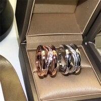 100% 925 Sterling Silber Ring Marke Luxus Ring Hohl Mit Diamant Dekoration Edle Für Frauen Geschenk Schmuck