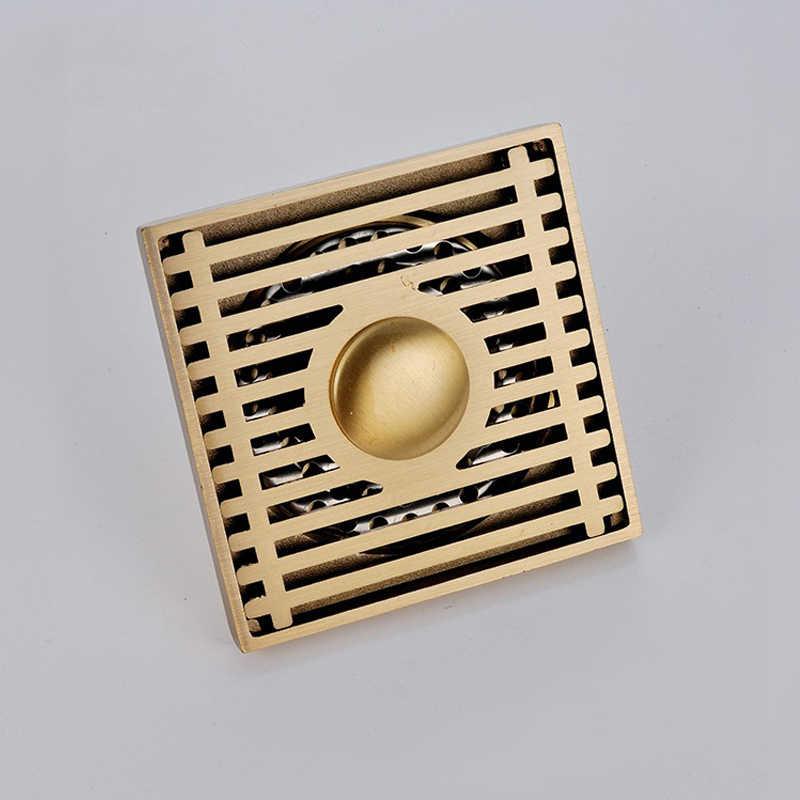 Máquina de lavar roupa dreno de assoalho do banheiro ouro dreno barreira do cabelo águas residuais cheiro à prova anti bloqueio filtro tubo quadrado buraco boné