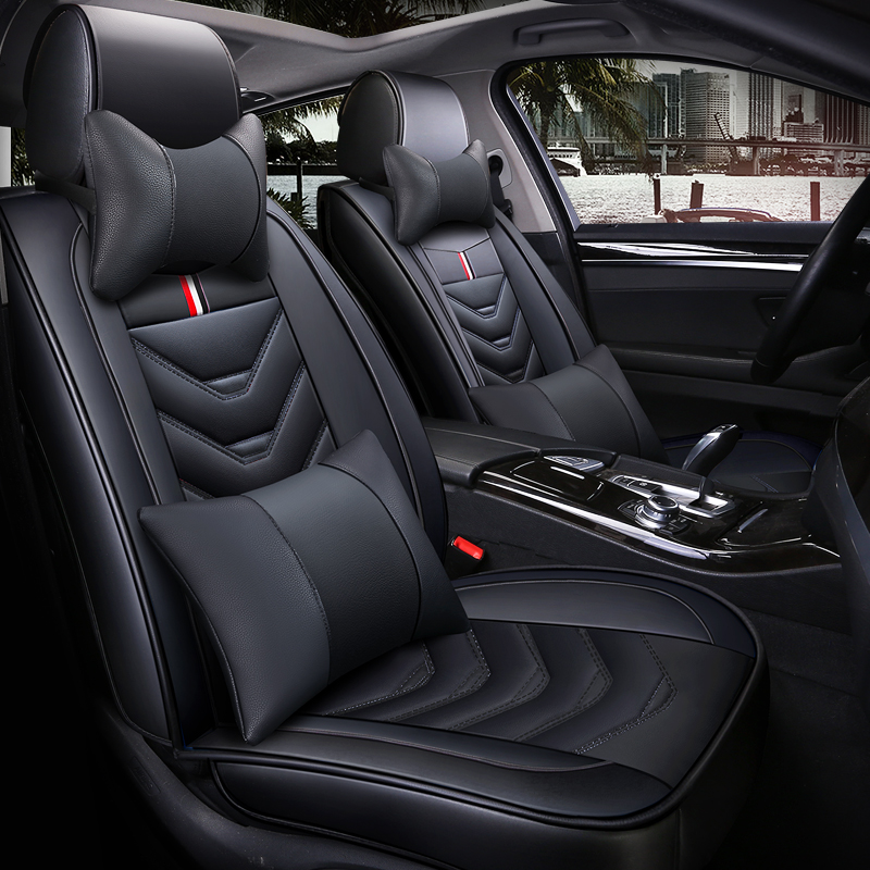 leather car seat cover 5 seats for mitsubishi outlander xl lancer 10 ASX pajero sport all models car accessories