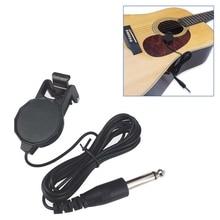 Clip-On Pickup for Acoustic Guitar Mandolin Bouzouki Violin Banjo Ukulele Lute metal guitar capo with bridge pin remover fit for acoustic electric guitar bass ukulele mandolin soprano concert tenor baritone