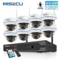 MISECU 8CH 1080P HD Wireless NVR di Sistema Con 2.0MP Interna Antivandalismo Wifi Della Macchina Fotografica di Registrazione Audio IR di Visione Notturna di Sorveglianza kit