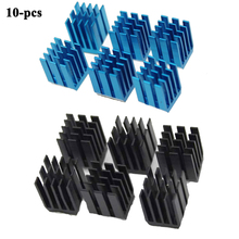 10pcs Gdstime Aluninum Cooling 9x9x12mm Sink Heat Black Blue Extruded With 3M Tape RAM Radiator GDT-X9