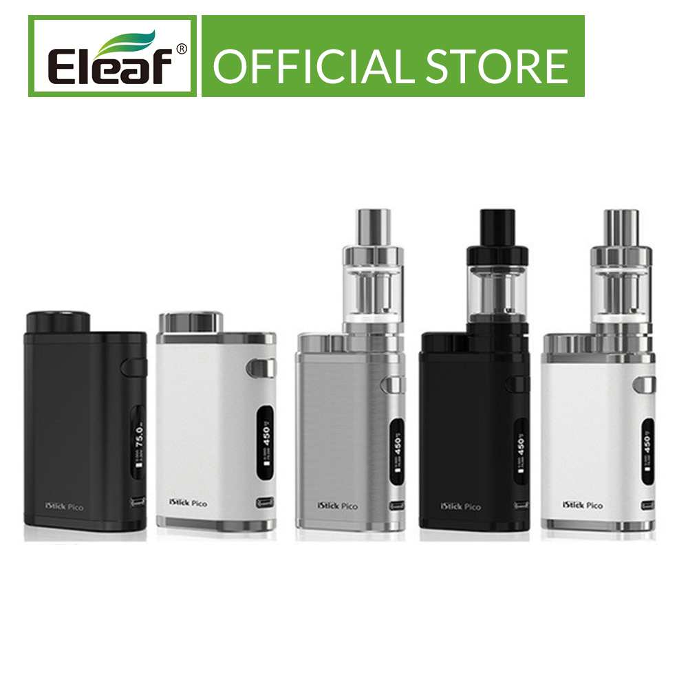 [RU/FR/ES]Original Eleaf iStick Pico Mod /iStick Pico 75W Kit With MELO III Mini Atomizer Box Mod in EC Head 2ml Melo 3 E Cig