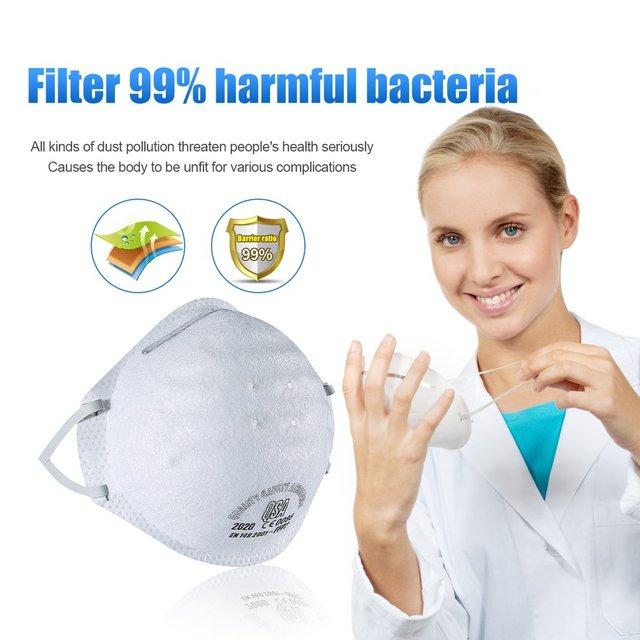 Anti-fog headband grade round FFP2 mask non-woven Dust Mask Anti PM2.5 Anti influenza Breathing Bicycle Rid Face Flu Face masks