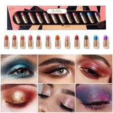 12 cores brilhantes cápsulas de gel sombra à prova dpopágua popfeel maquiagem encantador shimmer pó duradouro