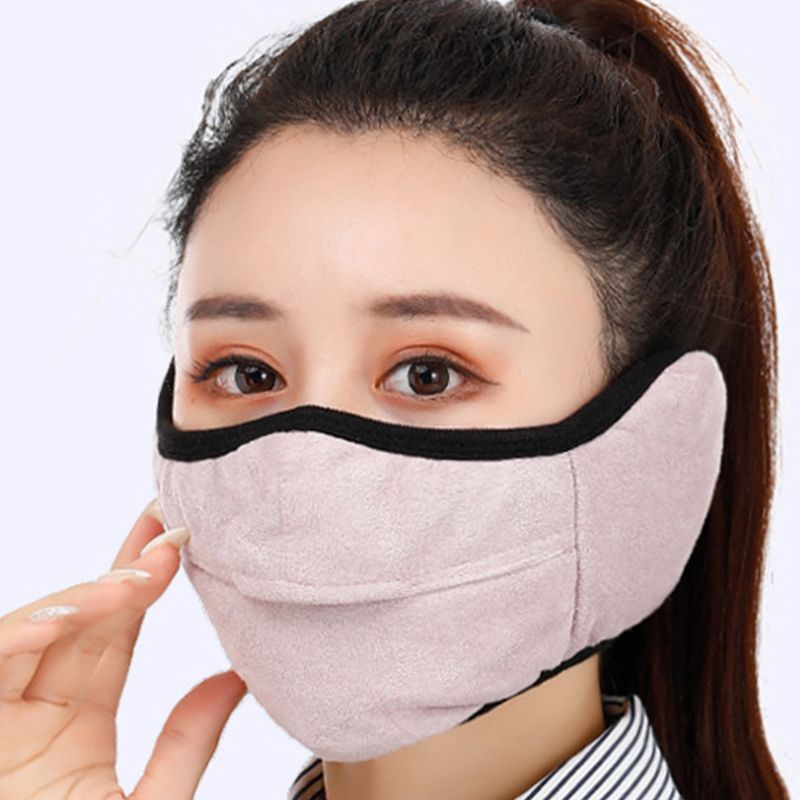 Winter Windproof Earmuffs Two-in-one Adults Masks Glasses Anti-fog Warm Mask AXYD