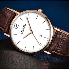 Fashion Business watches men Casual watch Quartz Wristwatch 2019 Leather Band relogio masculino reloj hombre Relogio Masculino